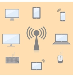 multimedia devices vector image