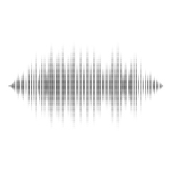 Waveform background isolated black and white vector