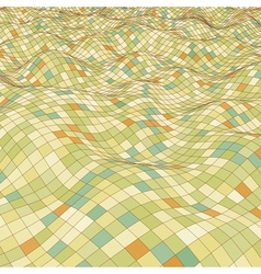 3d mosaic background vector image vector image