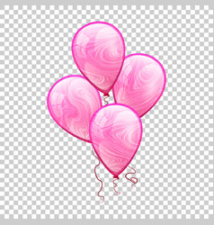 3d realistic colorful balloon holiday vector