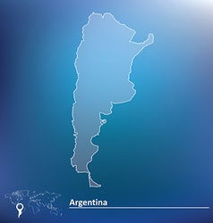 Map of argentina vector