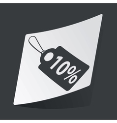 Monochrome discount sticker vector