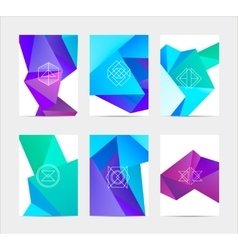 Abstract colorful user interface template set vector