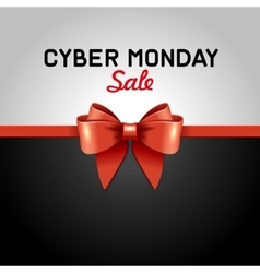 Cyber monday sale design poster with ribbon and vector