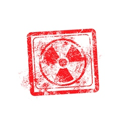 Radiation sign icon red grunge rubber stamp vector