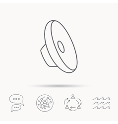 Sound icon audio speaker sign vector
