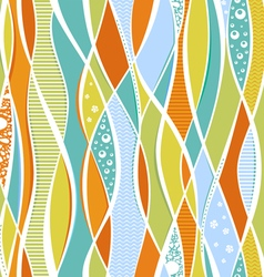 Colorful waves and lines vector