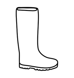 Boot shoe icon gardening design graphic vector