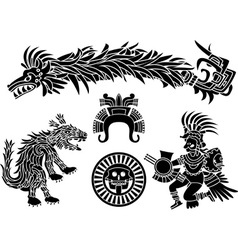 Aztec set vector