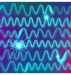 abstract background of light blue waves with the vector image