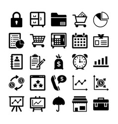banking and finance line icons 9 vector image
