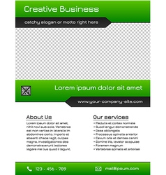 Business multipurpose flyer template - green vector