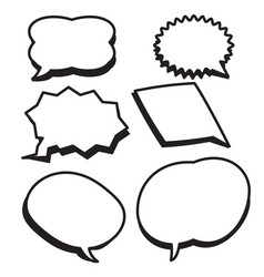 Cartoon bubbles text boxes set with blank text vector
