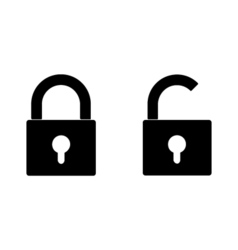 Closed and opened locks vector