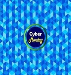 Cyber monday label- vector