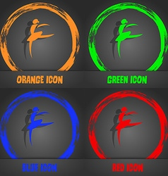 Dance girl ballet ballerina icon fashionable vector