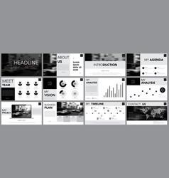 Design element of infographics for presentations vector