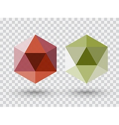 Diamonds vector image
