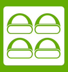 Different sushi icon green vector
