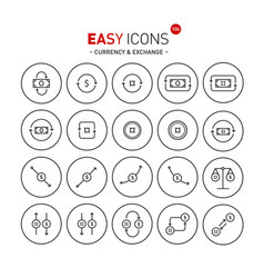 easy icons 10a exchange vector image vector image