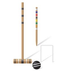 Equipment for croquet vector