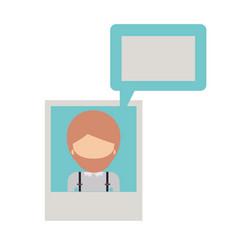 Faceless man social network picture profile vector