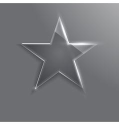 Frame glass star eps10 vector