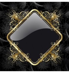frame with spider vector image vector image
