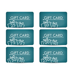 Gift card with a gift box realistic gift card with vector