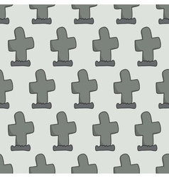 headstones seamless pattern vector image vector image