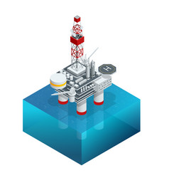 Isometric platform for production oil and gas oil vector