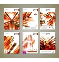 Modern ornage brochure design vector