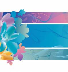 orchid waves vector image vector image