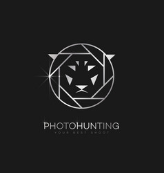 Photo hunting logo vector