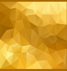 Polygonal square background gold yellow vector