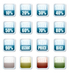 sale discount button vector image vector image