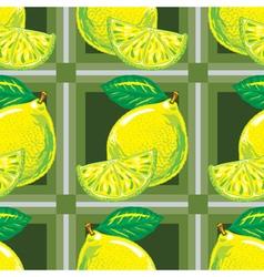 seamless pattern of yellow lemons vector image