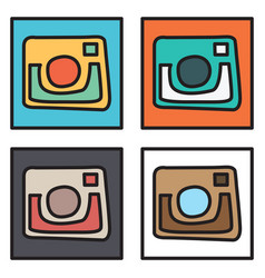 Set of unusual look web icon of modern lineart vector