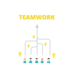 Team is committed to a single goal - vector image vector image
