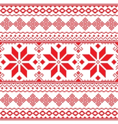 Traditional folk red embroidery pattern from Ukrai vector image vector image