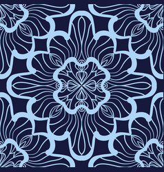 Wallpaper in abstract style a seamless azure vector