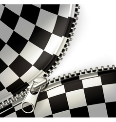 Zipper checkered vector image