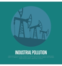 Industrial pollution oil industry equipment vector