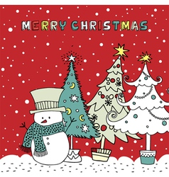 Doodle Christmas Card vector image