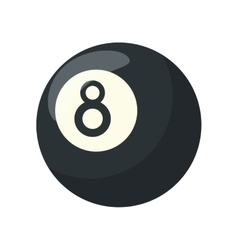 Isolated ball of billiard design vector