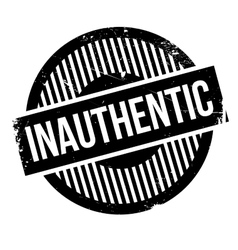 Inauthentic rubber stamp vector image