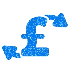 Pound cash outs grainy texture icon vector