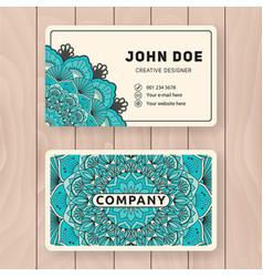Creative useful business name card design vector