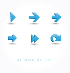Set of icons pointer arrows 3d vector