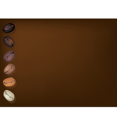 Coffee beans row background vector